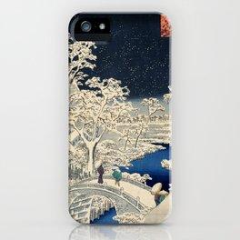 The Drum Bridge and Sunset Hill at Meguro iPhone Case