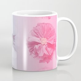 Blue Gradient Flower Grid Coffee Mug