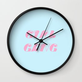 girl gang Wall Clock