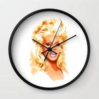 rupaul Wall Clocks featuring RuPaul - Supermodel - Pop Art by William Cuccio aka WCSmack