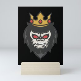 Gorilla King Crown Animal Jungle Mini Art Print