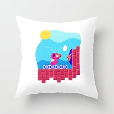 Teeny Tiny Worlds - Super Mario Bros. 2: Birdo Throw Pillow