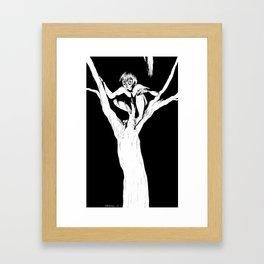 Boy in Tree Framed Art Print