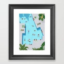 Crisp cut swim Framed Art Print