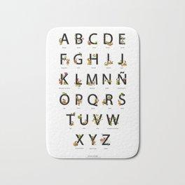 Spanish Alphabet Bath Mat