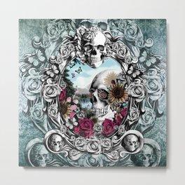 In the mirror.  Metal Print