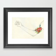 Love is as Strong as Death Framed Art Print