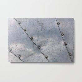 Grunge metal background or texture with scratches and cracks Metal Print