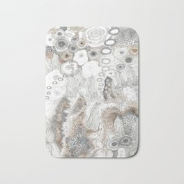 """Gray"" illustration Bath Mat"