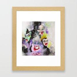 Abstract Villains Framed Art Print