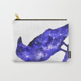 Purple Raven Painting | Space Raven | Raven Constellation | Space Animals Carry-All Pouch