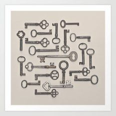 Labyrinth (Grey Version) Art Print