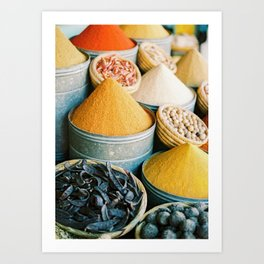 "Travel photography ""Souk Marrakech"" Spices of the Medina | Morocco photography Art Print"