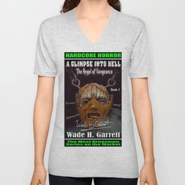 """""""The Angel of Vengeance"""" book cover art with signature Unisex V-Neck"""