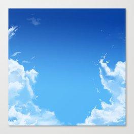 Deep Blue Sky Clouds Canvas Print