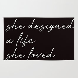 she designed a life she loved Rug