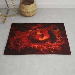 Lucifer in flames Rug