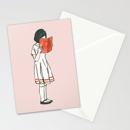 Avid reader Stationery Cards