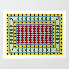 Egyptian Rug Art Print