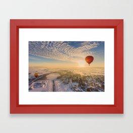 Floating Sunrise Framed Art Print