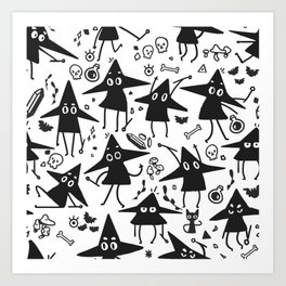 Magical Little Witches Art Print