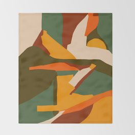 A New Way Of Seeing Abstract Landscape Throw Blanket