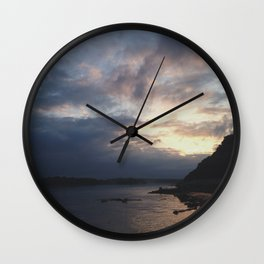 Peaking Through the Clouds Wall Clock