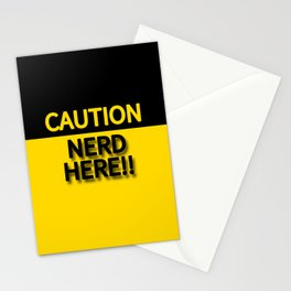 CAUTION NERD HERE!!! Stationery Cards