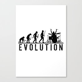 The Evolution Of Man And Drums Canvas Print