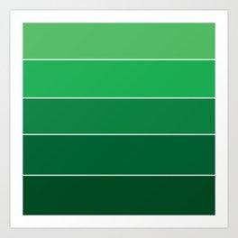 gradation in True Green Art Print