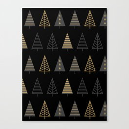 MODERN CHRISTMAS TREES 2 Canvas Print