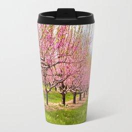 Pink Flowering Trees Travel Mug