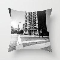 atlanta Throw Pillows featuring Atlanta Downtown by GF Fine Art Photography