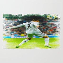 Cristiano Ronaldo celebrates after scoring Rug