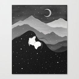 Mountain's Lullaby - Black & White Canvas Print
