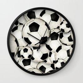Dirty Balls - footballs Wall Clock