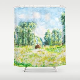 spring in Giverny Monet Claude Shower Curtain