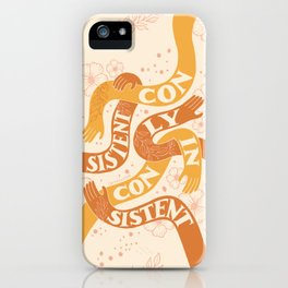 Consistently Inconsistent - Orange iPhone Case