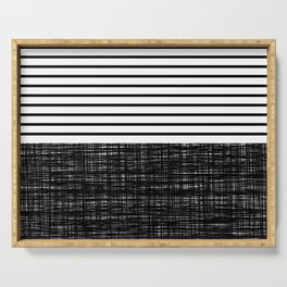 platno (black stripes) Serving Tray