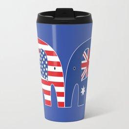 U.S.-Australia Friendship Elephants Travel Mug