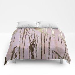 Gold Drips Comforters