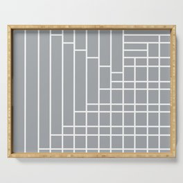Fuzz Outline Grey Serving Tray