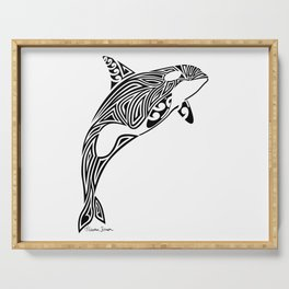Tribal Orca Serving Tray