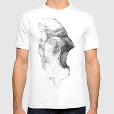 Fraction MEDIUM Mens Fitted Tee White