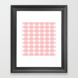 Pink Gingham Design Framed Art Print