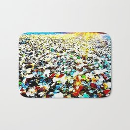 Sea Glass Beach Bath Mat