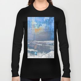 Blue Color Patches Long Sleeve T-shirt