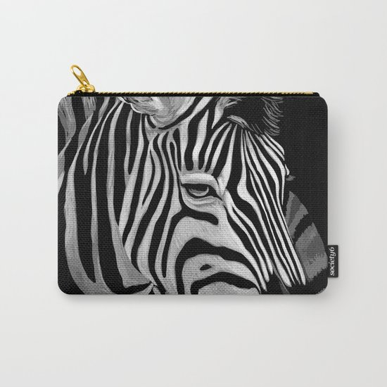 Zebra Painting Carry-All Pouch