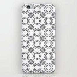 Grey Swirl Pattern iPhone Skin