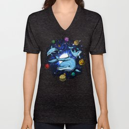 Space Dolphins Unisex V-Neck